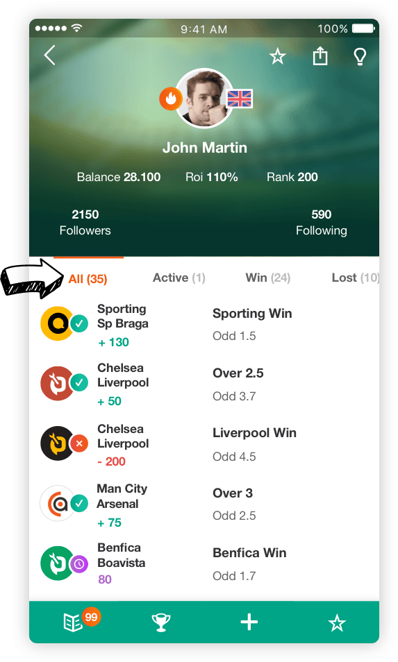 betting tips screen betarena