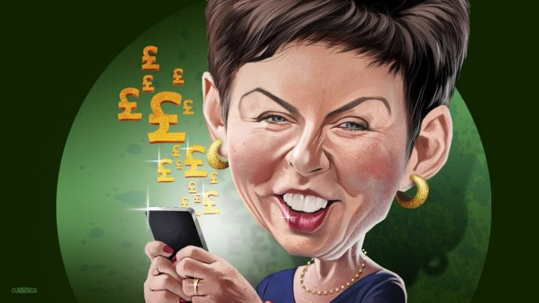 Denise Coates, Peter and John, owners of Bet365, in the richest persons' list